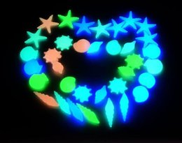 1Kgs Pack Luminous Beautiful SeaWorld Glowing stones conch shells starfish decoration glow in the dark for Fish tank aquarium
