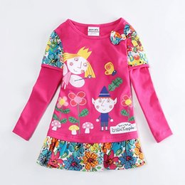 Wholesale ben and holly little kingdom T shirt for girls children long sleeves t shirt autumn spring clothes cartoon characters F4516