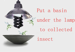 Wholesale 36W V E27 U UV Black light Insecticidal lamp violet light trap ultraviolet germicidal lamp For Farms animal farms and fish ponds