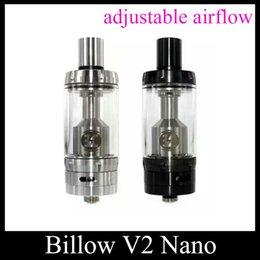 Billow v2 en Ligne-Ecig réservoir Ehpro Bulow V2 Nano Atomiseur RTA 3,2 ml verre Pyrex réservoir noir en acier inoxydable par EHPRO Et Eciggity atomiseur ATB105