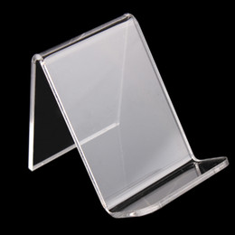 Wholesale Transparent Acrylic Phone Holder Digital Products Display Stand Purse Wallet Rack U Disk Memory Card Display Props