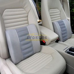 Wholesale Car Lumbar Cushion Bamboo Charcoal Auto Seat Back Pillow Home Office Waist Pad Brand New Good Quality