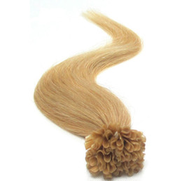 "Wholesale - mix lenght 14"" -24"" Pre Keratin nail u-Tipped brazilian Human Hair Extensions #24 blonde ,1g s 100s Pack 100g pack"