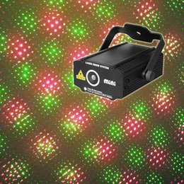 Wholesale Mini Portable RG Meteor Laser Projector Lights DJ KTV Home Xmas Party Dsico Stage Lighting Private Mold Plastic Shell P100