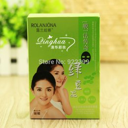 Wholesale 10 BOX Mung Bean Mud Peel Off Mask Acne Remove Blackhead Remove Purify Pores Shrink Pores Facial Mask Oil Control A1004