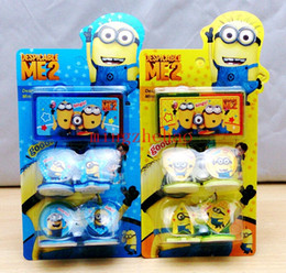 Wholesale New Sale sets Cartoon Stamper Despicable me minion action figures Style educational DIY stamp drawing set baby toy study stationary