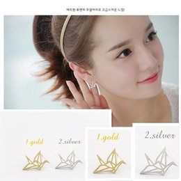 Brincos Sale Trendy Unisex None Animal Cc Earrings For 2016 Fashion New Chic Hollow-out Papercranes Earring Set Bird Earrings