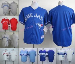 Wholesale Mens Toronto Blue Jays Blank No Name Jersey White Blue Red Mens Stitched Authentic Baseball Jerseys Embroidery Logo