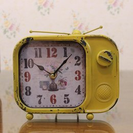 Wholesale European Mediterranean American country Vintage wrought iron clock old Home Furnishing decoration crafts clock