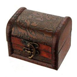 Almacenamiento de maquillaje de madera en venta-Caso Caja de almacenamiento de madera clásico retro de la manera europea del estilo antiguo con las flores para la joyería de las mujeres de maquillaje de la vendimia