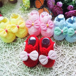 Wholesale Baby Knit Shoes Crochet Kids Shoes Baby Online Cute Infant Baby Girl Boy Crochet Knitted Boots Shoes Costume Photo Prop Outfits