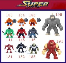 Wholesale 11pcs set Decool Super Heroes Big Hulk Thing Venom Hulk Buster Green Goblin Lazy Rhino juggernaut Building Brick Blocks