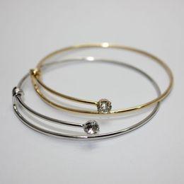 Wholesale 20pcs Retro Alex bangle Ani Crystal Alloy diamond Rims wire bracelets Charm Bracelets Women adjustable Bangles Bracelets
