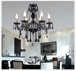 Chandelier Lighting Modern crystal Black chandelier lights blacklighting fashion crystal chandelier light
