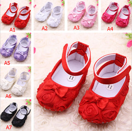 Wholesale New color Rose flower Baby First Walker Shoes infant baby prewalker kids Antiskid shoes girls shoes