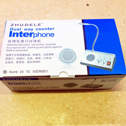 Wholesale New Dual way Bank Office Store Station Window Counter Intercom Interphone System