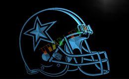 Wholesale LA236 TM Dallas Cowboys Helmet Beer Bar Neon Light Sign Advertising led panel jpg