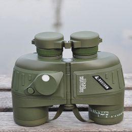 10X50 Shockproof Camouflage Optics Binocular Telescope with Compass Waterproof High Power Binoculars Telescope for Hunting