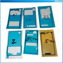 Wholesale 100 Front Frame Adhesive Tape Sticker M For Sony Xperia Z Z1 Z2 Z3 mini L39H L39 L36H L50W LT36H C6603 L36 LCD Housing Bezel Glue