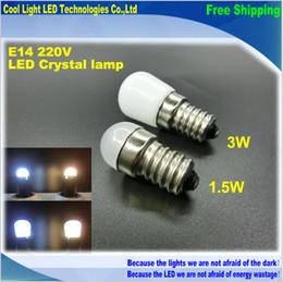Wholesale New Product E14 W W Refrigerator LED lighting mini bulb AC220V V Bright indoor lamp for Fridge Freezer