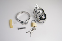 Stainless Steel Chastity cock cage with Urethral Catheter, Male Chastity Metal Cock Cage Device BDSM Fetish sex item 923