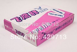 Wholesale Low Price Razor Blades - Wholesale-lowest price Whole net(60pieces lot) Men's Razor Blades,high Quality Shaving blade makeup tools stainless steel double-sided