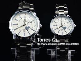 Wholesale Amazing Cute Mens Women Quartz watch Lovers Watches Wristwatch Stainless S wristwatches White
