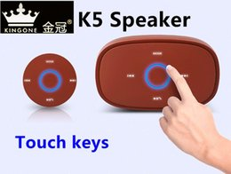 Wholesale Kingone K5 APP Wireless Bluetooth Mini Speaker With Unique APP application control technology Tablet iphone ipad Cellphone Phone