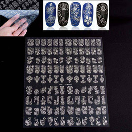 Elegant Pretty 108 Designs 3D Silver Flower Nail Art Stickers Decals Polish Wraps Phone Decoration Cosmetic