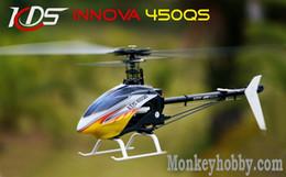 Promotion kds hélicoptère 2015 Vente en gros KDS innova hélicoptère 450QS 3D RC 2.4G plastique 450 3D télécommande RTF hélicoptère
