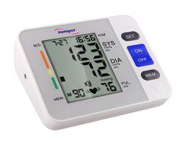 Wholesale LCD Upper Arm Digital Blood Pressure Monitor Irregular Heart Beat Detector Cuffs Diastolic Systolic Meter Pulse Rate Gauge Sphygmomanometers