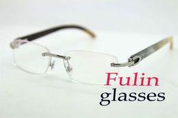 Free Shipping eyeglasses Design Clear Lens Folding Reading Glasses Hot Men Read Buffalo Eyeglasses T8100903 Size : 54-18-140mm