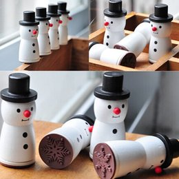 Cute Wooden Snowman Stamp Snowflake XMAS Gift Scrapbooking Card Making DIY Craft