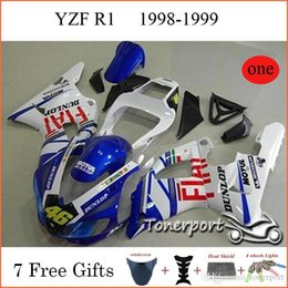 Wholesale 46 Dunlop For Yamaha Fairing Kit R1 YZF Year FIAT Motul Motorcycle Body Parts Injection Molding Cool Fashion Cowling