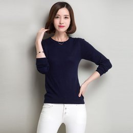 2015 Cashmere Wool Sweater Women Sweaters and Pullovers Women Fashion O Neck Solid Color Knitted Sweater Ladies Wear