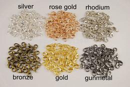 Descuento broches para los encantos Envío Gratis! 600 pcs 6 colores corchete de la langosta de la garra resultados de la joyería de moda colgantes de los encantos de la vendimia 12x6mm