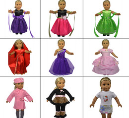 Wholesale Toy xmas GIFT Handmade Doll Clothes For quot American Girl Party Princess Dress Chirstmas present accessories With Tracking No