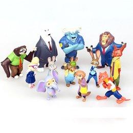 PrettyBaby The Latest Movie Zootopia 12pcs Cartoon Utopia Action Figure Movie Pvc Mini Models set Nick Fox Judy Rabbit Dolls