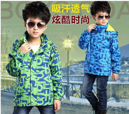 2088 Children Outerwear Coat Sporty Kids Clothes Double-deck Waterproof Windproof Boys Jackets 3 Colors Spring and Autumn