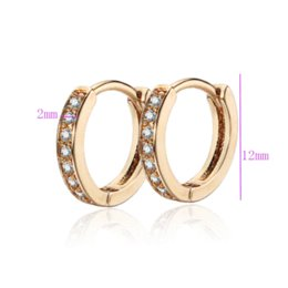 Wholesale Shopping Festival New K Gold Plated Classic Baby CC Hoop Earrings Zirconia Earring For Baby E18K