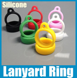 Silicone Lanyard Ring Colorful E cigarette Necklace Ring Fit eGo Evod-Twist Atomizer DHL Free Shipping FJ048