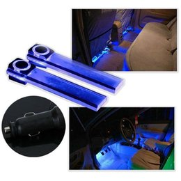 Wholesale 12V LED Car Auto Interior Atmosphere Lights Floor Decoration Lamp Light Blue