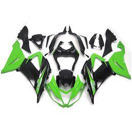 Wholesale Injection Fairings For Kawasaki Ninja ZX R ZX6R Sportbike ABS Motorcycle Fairing Kit Body Kits Green Black Fittings New