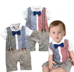 Wholesale Baby Dress Boy Rompers Children Clothes Kids Clothing Summer Jumpsuit Rompers Baby One Piece Romper Infant One Piece Clothing C4498