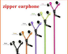 Wholesale Zipper Headset mm Jack Bass Earbud Earphone Stereo in ear Earphones with Mic for iPhone Plus Samsung s7 edge note