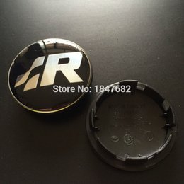 Wholesale High quality Volkswagen Resin SR logo Wheel Center Caps Rim VW Hub Caps EMBLEM for VW R Line Golf R32 Passat R36