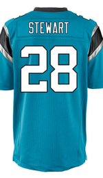 Wholesale Factory Outlet Men s Jonathan Stewart Jersey Elite White Black Baby Blue Stitched Name And Number