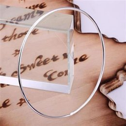 Wholesale Lose Money silver bangle bracelet silver fashion jewelry Single Ring Bangle oop tzm