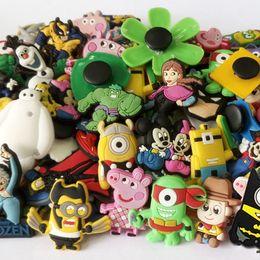 Wholesale 100PCS Lego Star Wars Minions Avengers Mickey Pony Mine PVC Shoe Charms Shoe Accessories Cartoon Shoe Buckle fit Bracelet Bands Party Gift