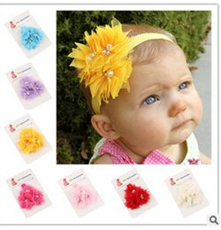Three Lei mesh yarn hair accessories headband baby hair of children in Europe and America with 10 manual color options 20pcs
